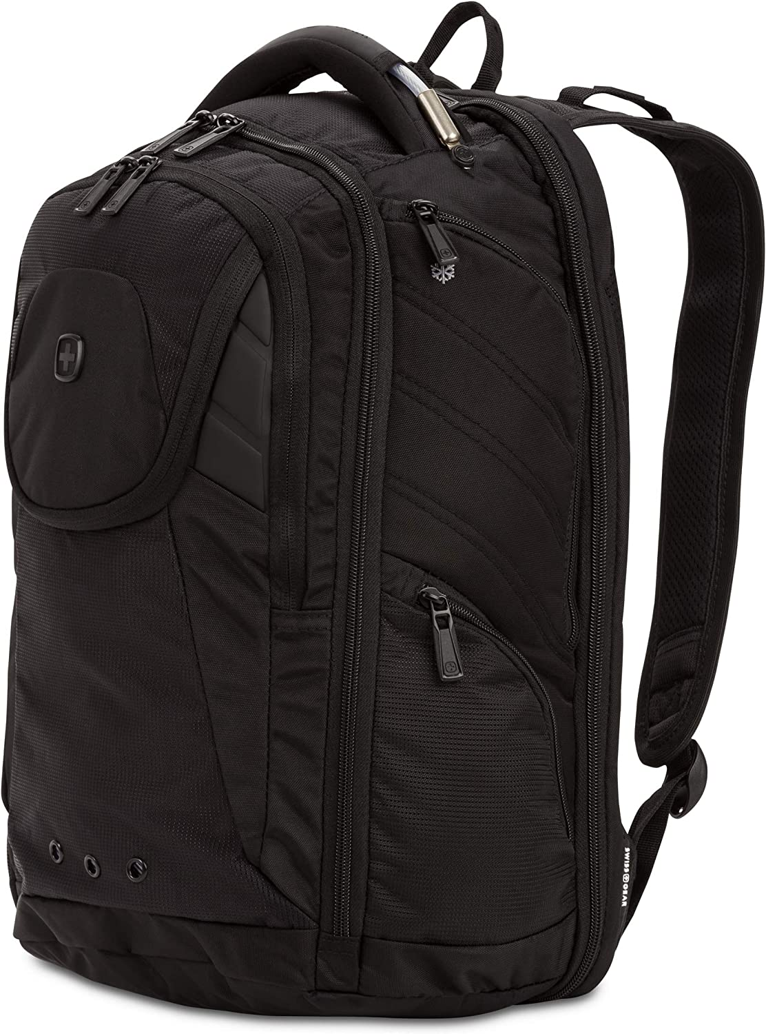 SwissGear 2762 ScanSmart Laptop Backpack. Abrasion-Resistant & Travel-Friendly Laptop Backpack (Monochrome Black)
