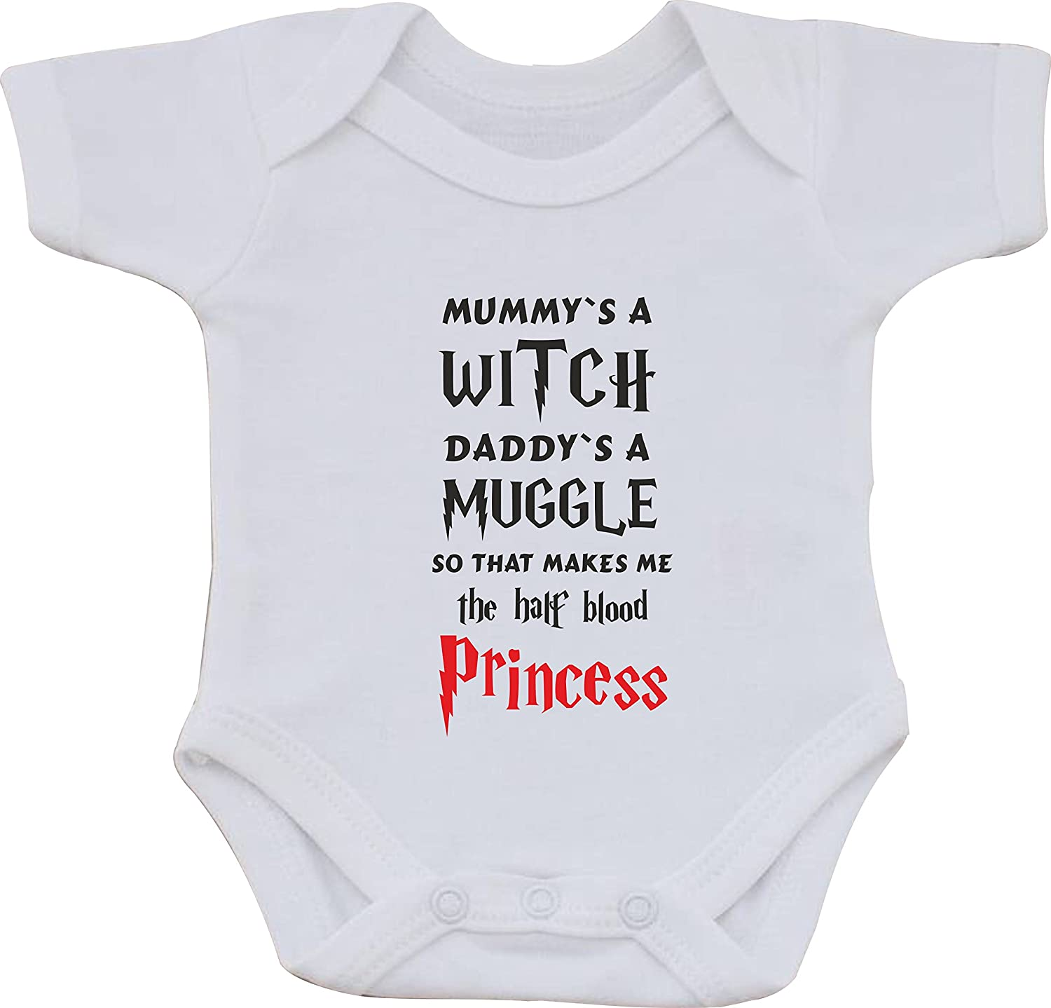 magic moments Mummys A Witch Daddys A Muggle So That Makes Me The Half Blood Princess Harry Potter Full Color Funny Sublimation White Baby Vest