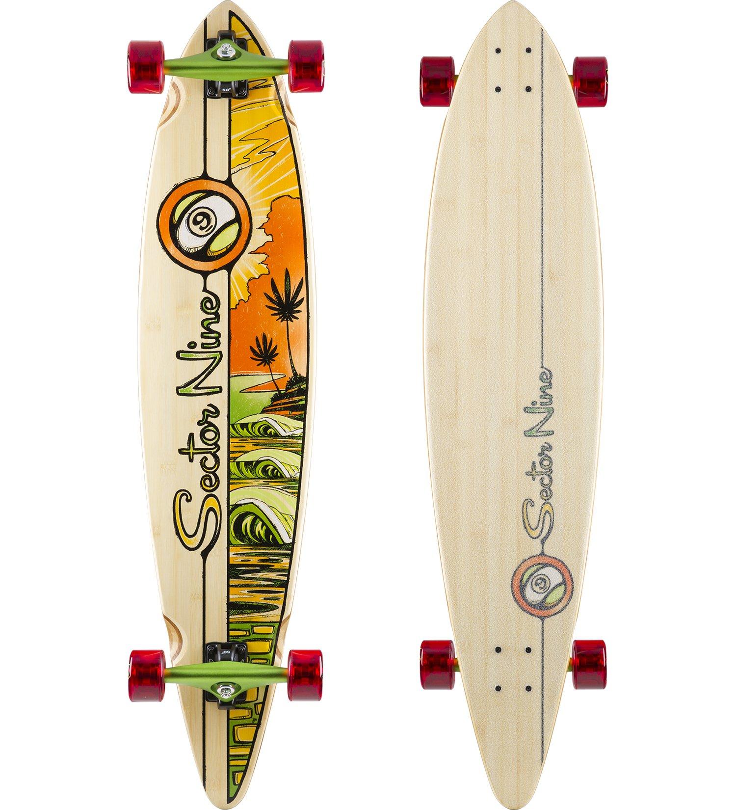 Sector 9 Sunburn 16 Complete Skateboard, Assorted, 44.0'' x 9.75'' WB - 30.4''