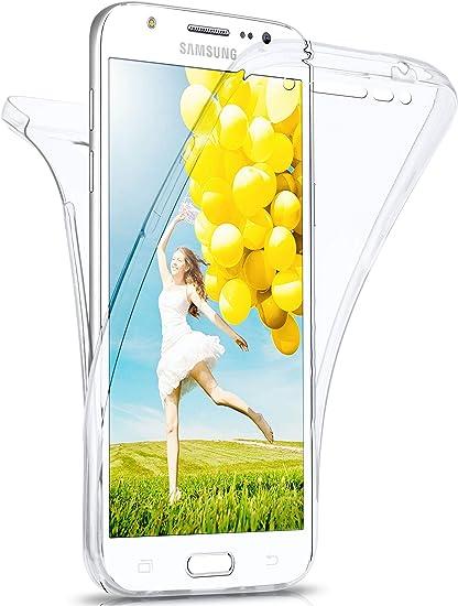 MoEx Coque intégrale en Silicone Compatible avec Samsung Galaxy J5 (2015) | 360° - Transparent, Transparent