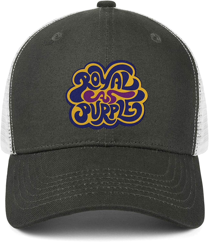 Royal As Purple Mens Womens Mesh Back Baseball Caps Cotton Snapback Hats
