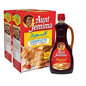 Aunt Jemima Syrup & Pancake Mix Combo Pack, 2 2lb Buttermilk Mixes, 1 24oz Original Syrup (Packaging May Vary)