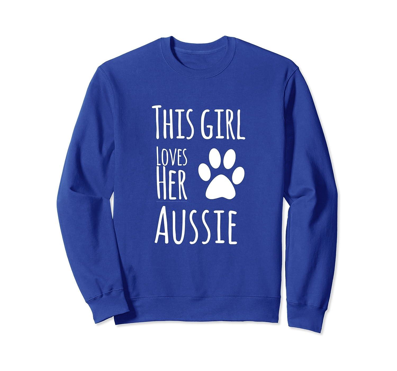 Aussie Mom Loves Her Australian Shepherd Dog Sweatshirt-AZP