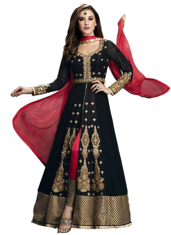Stylo Sarees Designer Wedding Fancy Party Wear Semi Stitched Georgette Salwar Kameez SD-LK483