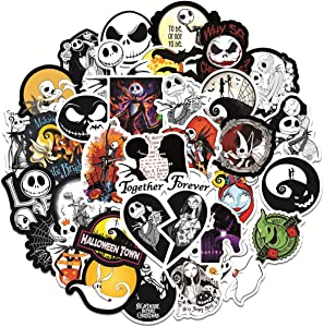 Halloween Cool Stickers Vinyl Waterproof Stickers for Laptop,Bumper,Water Bottles,Computer,Phone Car Stickers and Decals,Teens for Adults and car Stickers (Halloween 50PCS)