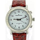 Precision PREW0026- Ferngesteuerte Herrenuhr mit rotem Lederarmband in Krokooptik- funktioniert nur in England