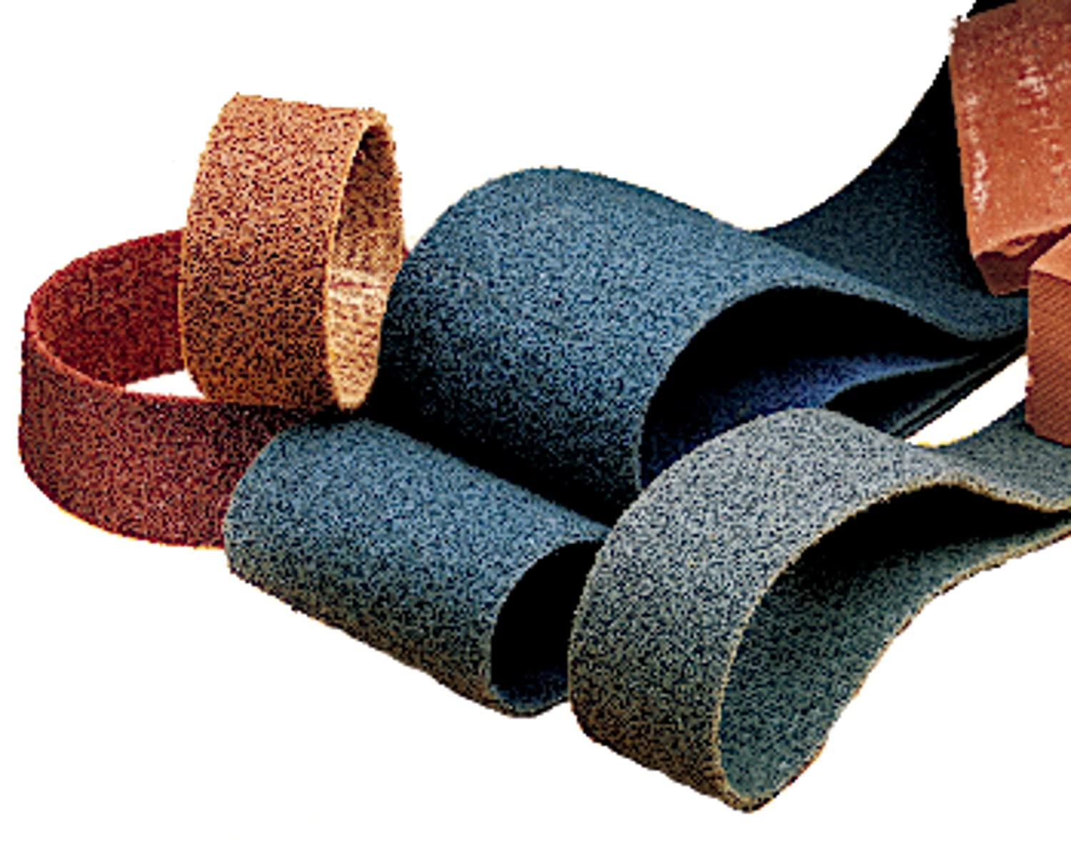 Very Fine Grit Surface Conditioning Belt Blue Scotch-Brite Pack of 20 1//4 Width x 24 Length TM