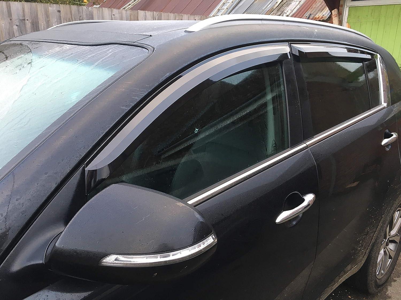 Pour Kia Sportage 2010– 2015 Dé flecteurs d'air Lot de 4 piè ces) (Fumé ) Autoclover