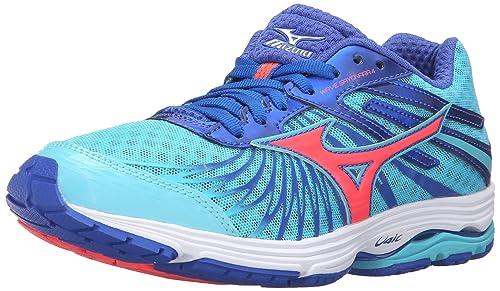 205d4c110c3c Mizuno Women's Wave Sayonara 4-W Running Shoe, Capri/Fiery Coral/Dazzling