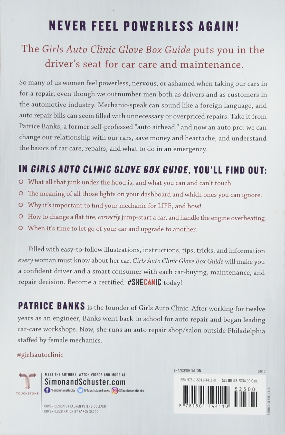 Girls Auto Clinic Glove Box Guide: Patrice Banks: 9781501144110:  Amazon.com: Books