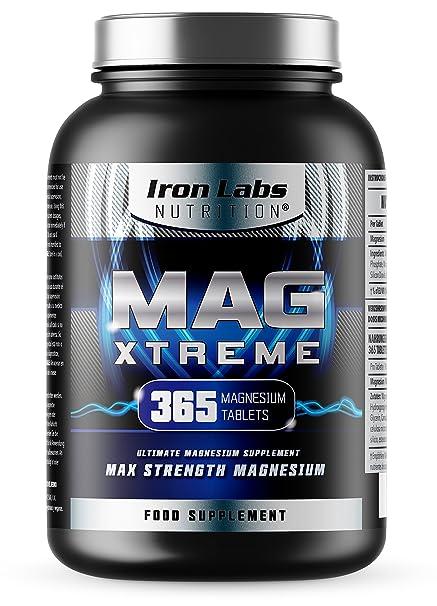 MAG Xtreme - Magnesio 200 mg x 365 comprimidos de citrato de magnesio | 1 año