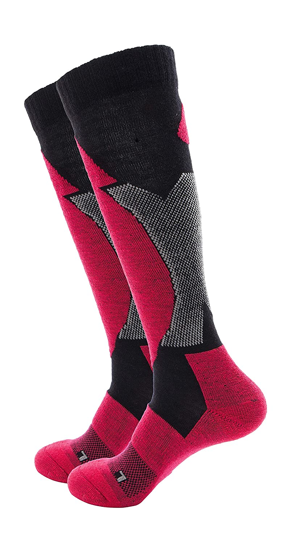 Wantdo Men's Knee-High Full Cushion Ski Socks ONE SIZE) WDHW1321
