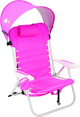 RIO BRANDS LACE UP ALUMINUM BACKPACK CHAIR WITH PERSONAL CANOPY