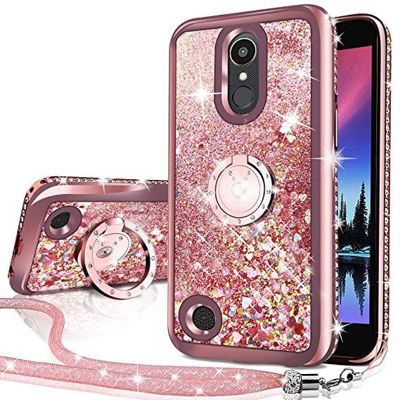 official photos 45c1a 88080 LG Aristo Case, Risio 2 Case, Phoenix 3 Case, Fortune/Rebel 2 LTE/K8 2017  Case, Silverback Girls Women Moving Liquid Holographic Glitter Case with ...