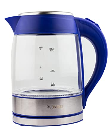RNG EKO GREEN 1.8-Litre 2200-W Electric LED Glass Kettle-Blue Kettles at amazon