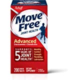 Glucosamine & Chondroitin Advanced Joint Health Supplement Tablets, Move Free (200 count in a bottle), Supports Mobility, Fle