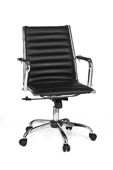 Schreibtischstuhl  Amstyle Bürostuhl GENF 2 Bezug Kunstleder Design Schreibtischstuhl ...