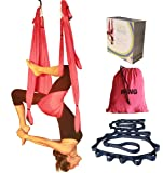 SALE TODAY ONLY Wing Aerial Yoga Swing Inversion Sling Trapeze. Includes 2 Daisy Chain Adjustable Straps. Best Quality, Comfortable and Ultra Strong.