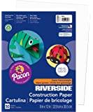 Pacon Construction Paper, 9-Inches by 12-Inches, 50-Count, White (103589)