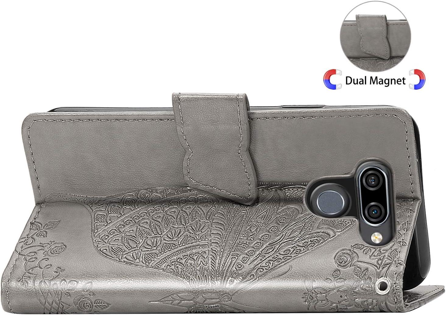 LG Q60 H/ülle Leder Schutzh/ülle Brieftasche mit Kartenfach Klappbar Magnetisch Sto/ßfest Handyh/ülle Case f/ür LG K50 LG Q60 LOSDA030816 Violett Lomogo LG K50