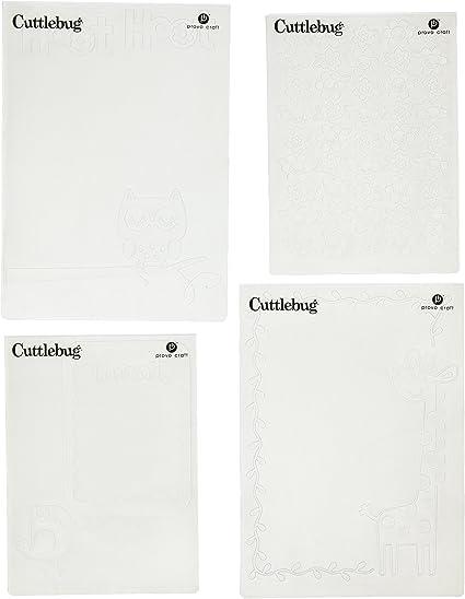 "CUTTLEBUG embossing folder NIFTY FIFTIES HELLO 5/""x7/"" REDUCED"