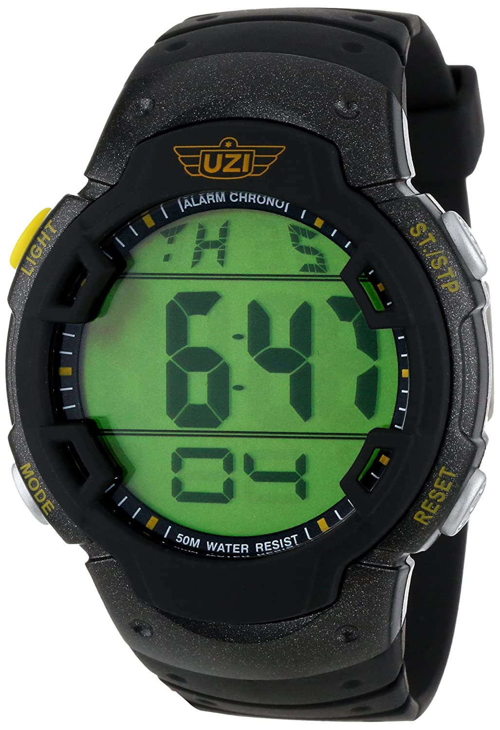 Amazon.com: Uzi Mens Uzi-89-R The Guardian Black Rubber Strap Watch: Watches