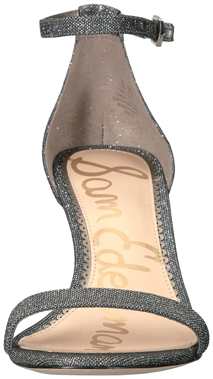 Sam Edelman Women's Patti Dress Sandal B01MQVOJIZ 7.5 B(M) US Pewter Glitzy Fabric