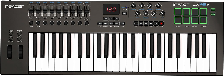 Amazon.com: Nektar Impact LX49+ Keyboard Controller: Musical Instruments