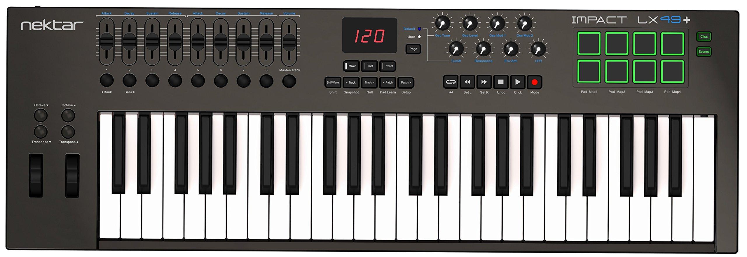 Nektar Impact LX49+ Keyboard Controller by Nektar