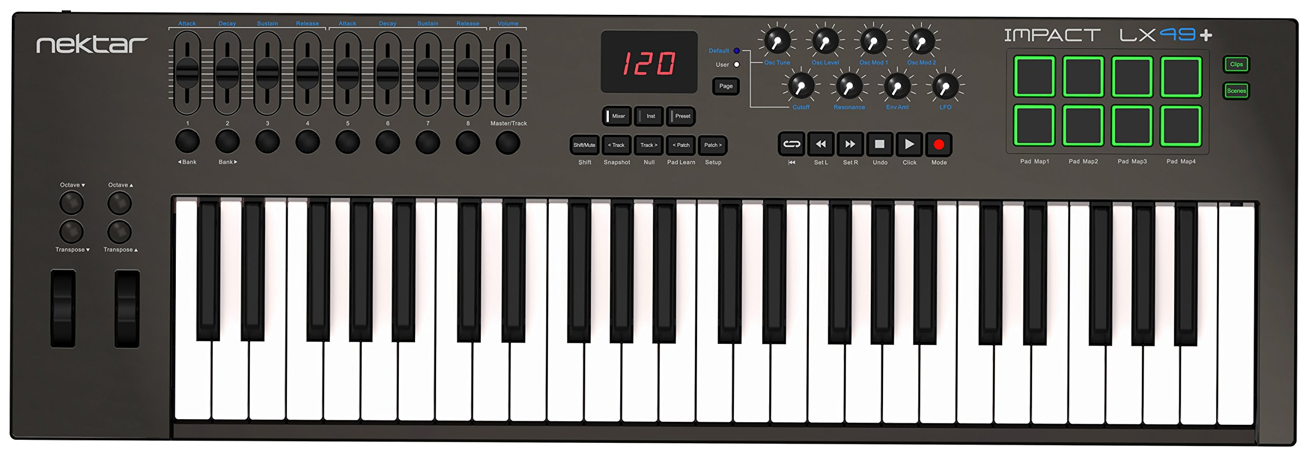 Nektar Impact LX49+ Keyboard Controller - Most Powerful Control