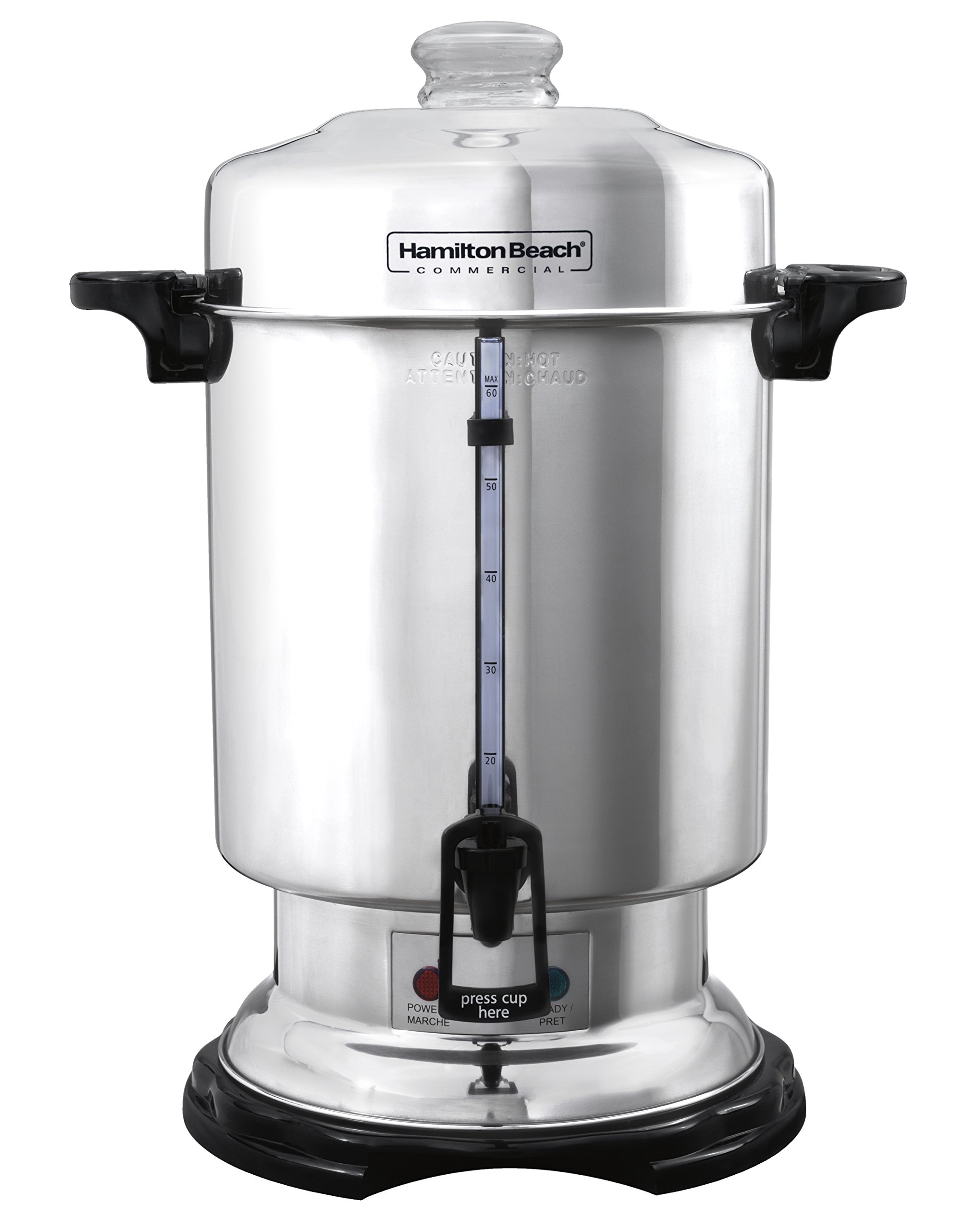 Hamilton Beach D50065 Commercial 60-Cup Stainless-Steel Coffee Urn, Silver by Hamilton Beach (Image #1)