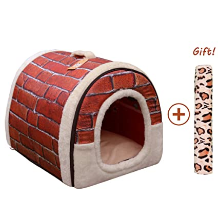Amazon.com : Home of Boutique Indoor Dog Cat Bed House, Pet Beds Warm Soft Washable Foldable for Small Medium Large Dogs Cats (M:45cmx35cmx35cm, ...