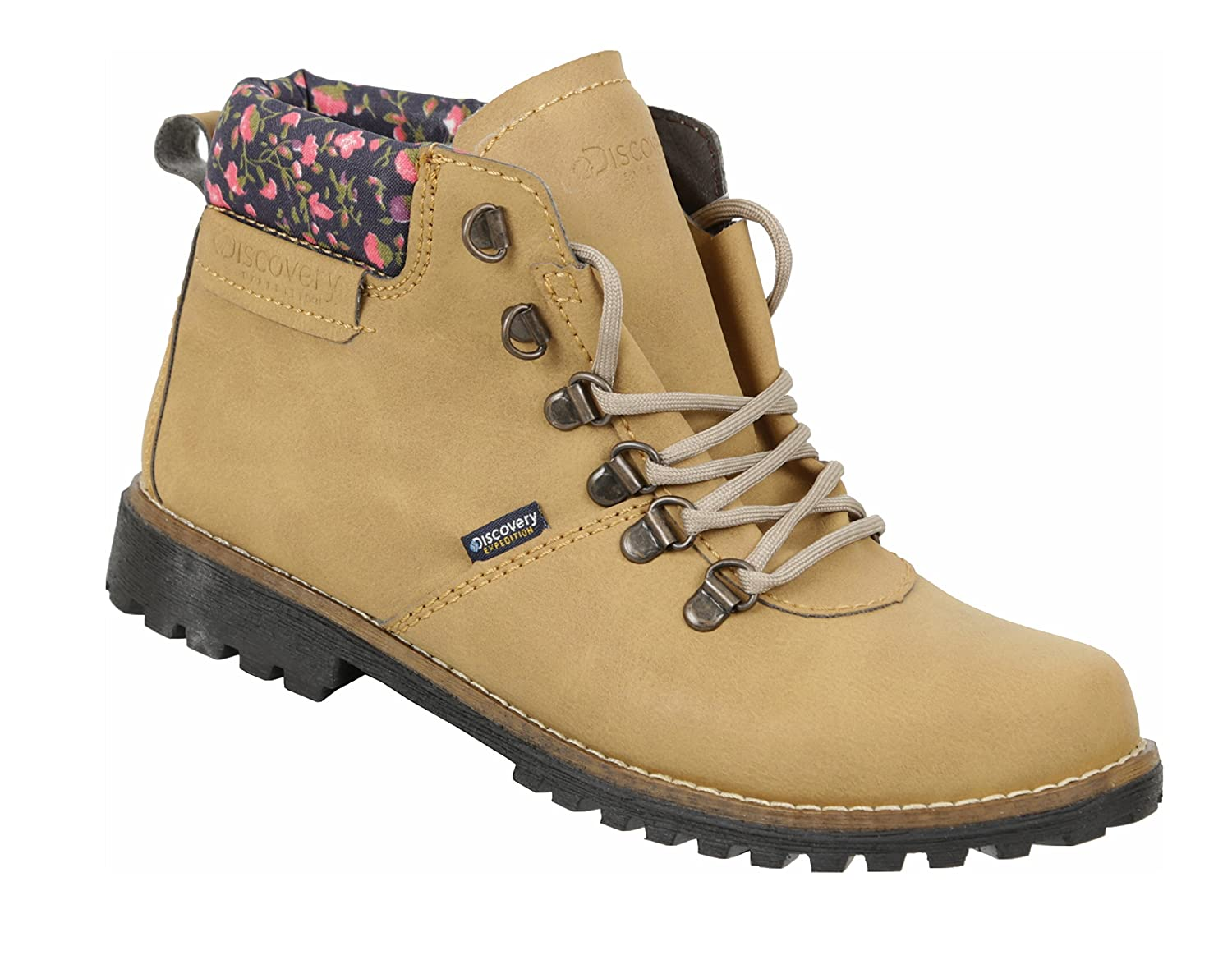 Discovery Expedition Women's Ankle High Outdoor B078JZDXC5 Boot w/Fashion Patterened Trim B078JZDXC5 Outdoor 6 B(M) US Honey-floral 4c9d09