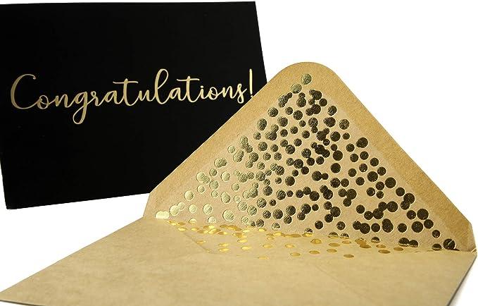 FAUX Gold Foil Congrats Burst A2 Greeting Card