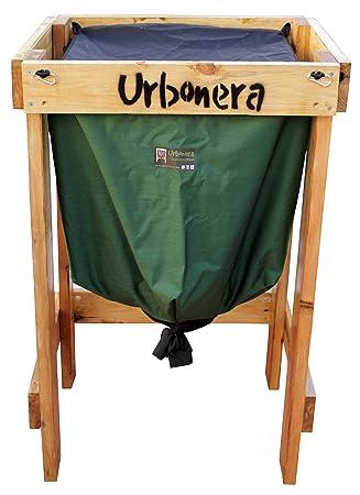 Urbonera: la abonera urbana Vermicompostador/Compostador para lombrices de 125 litros + Estructura de Madera: Amazon.es: Jardín