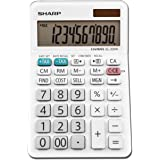 Sharp EL-330WB Standard Function Basic Desktop Calculator, Large Display, For Home and Office, Dual Power, Solar and Battery