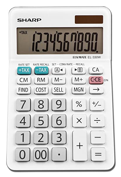 Amazon Sharp Calculators El 330wb Business Calculator White