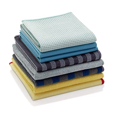 E-Cloth Microfiber Home Cleaning Set for Chemical-Free Cleaning with Just Water, 8 Cloth Set