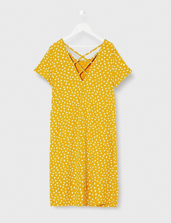 Only Onlbera Back Lace Up S//S Dress Jrs Noos Vestito Donna