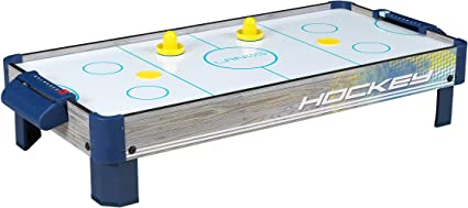 Amazon Com Air Hockey Tabletop Game Table For Kids Lanos 40 Inch Electronic Air Hockey Game With Powerful Air Blower 2 Paddles And 2 Pucks Electronic Ice Hockey Gifts Kids