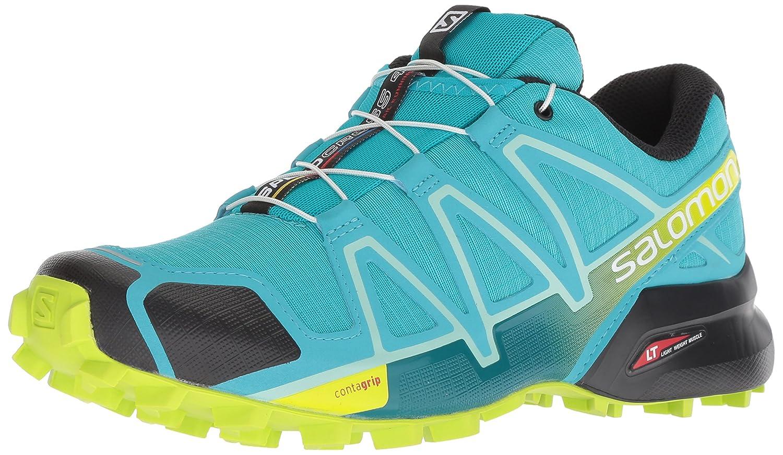 Salomon Speedcross 4, Calzado de Trail Running para Mujer 40 EU|Azul (Bluebird/Acid Lime/Black)