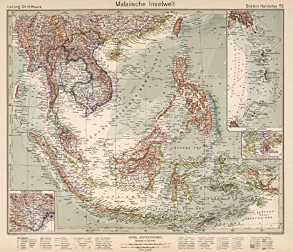 Amazon historic pictoric 1925 world atlas 72 malaiische historic pictoric 1925 world atlas 72 malaiische inselwelt malay archipelago indonesia gumiabroncs Gallery