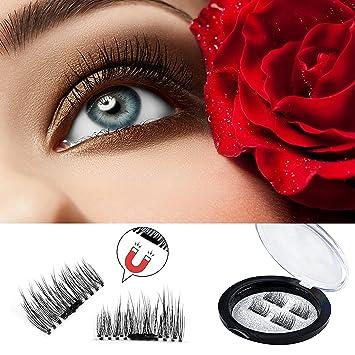8275e12fa46 Amazon.com : Piero Lorenzo Premium Magnetic Eyelashes - Ultra-thin 0.2mm  Reusable Fake Eyelashes For Women (4 Pieces) : Beauty