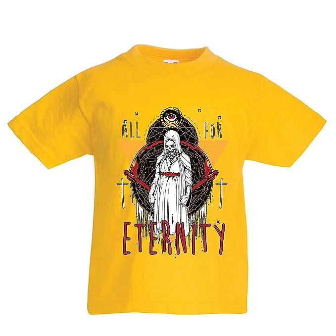 lepni.me Camiseta para Niño/Niña Todo por la eternidad, Esqueleto, Halloween