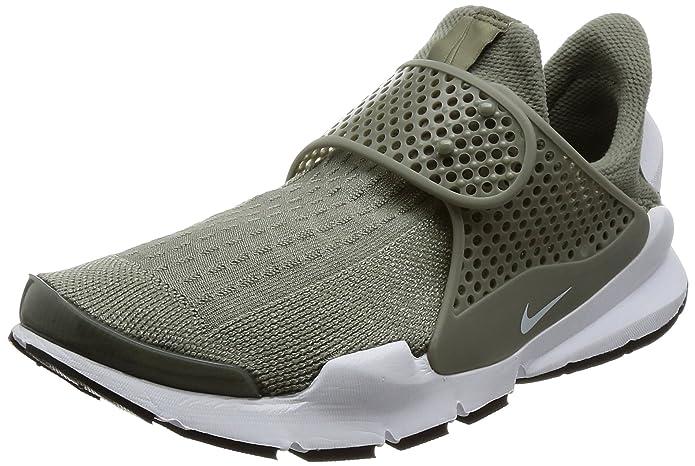 size 40 dfb1f f08eb Amazon.com   Nike Sock Dart Women s Running Shoes Dark Stucco White-Black  848475-005   Road Running