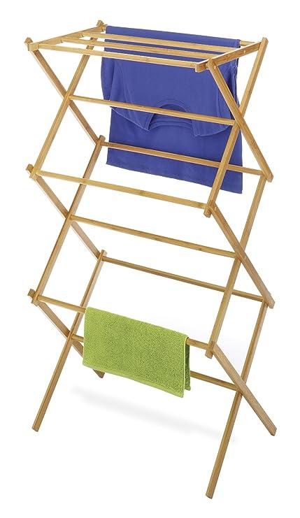 Whitmor Bamboo Folding Drying Rack Amazonin Home Kitchen