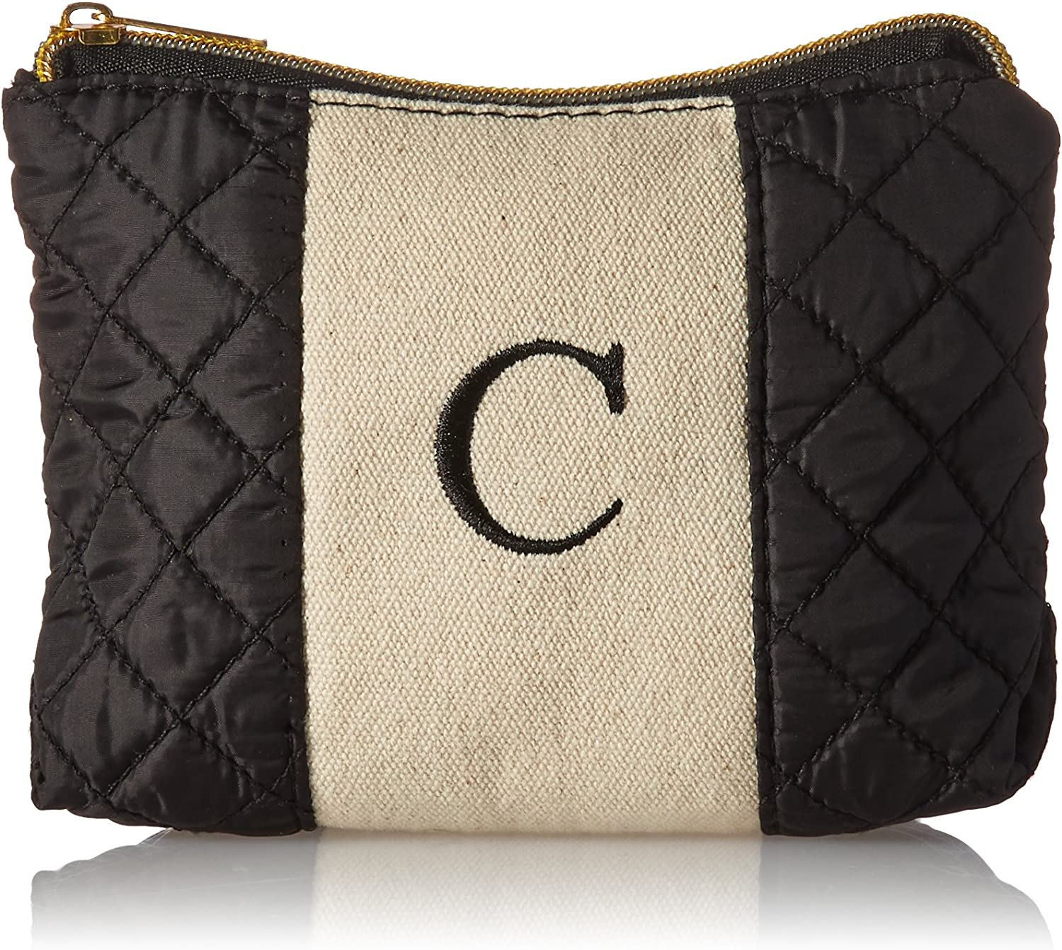 Kate Aspen 29096XC Black and White C Makeup Monogram Make up Bags,