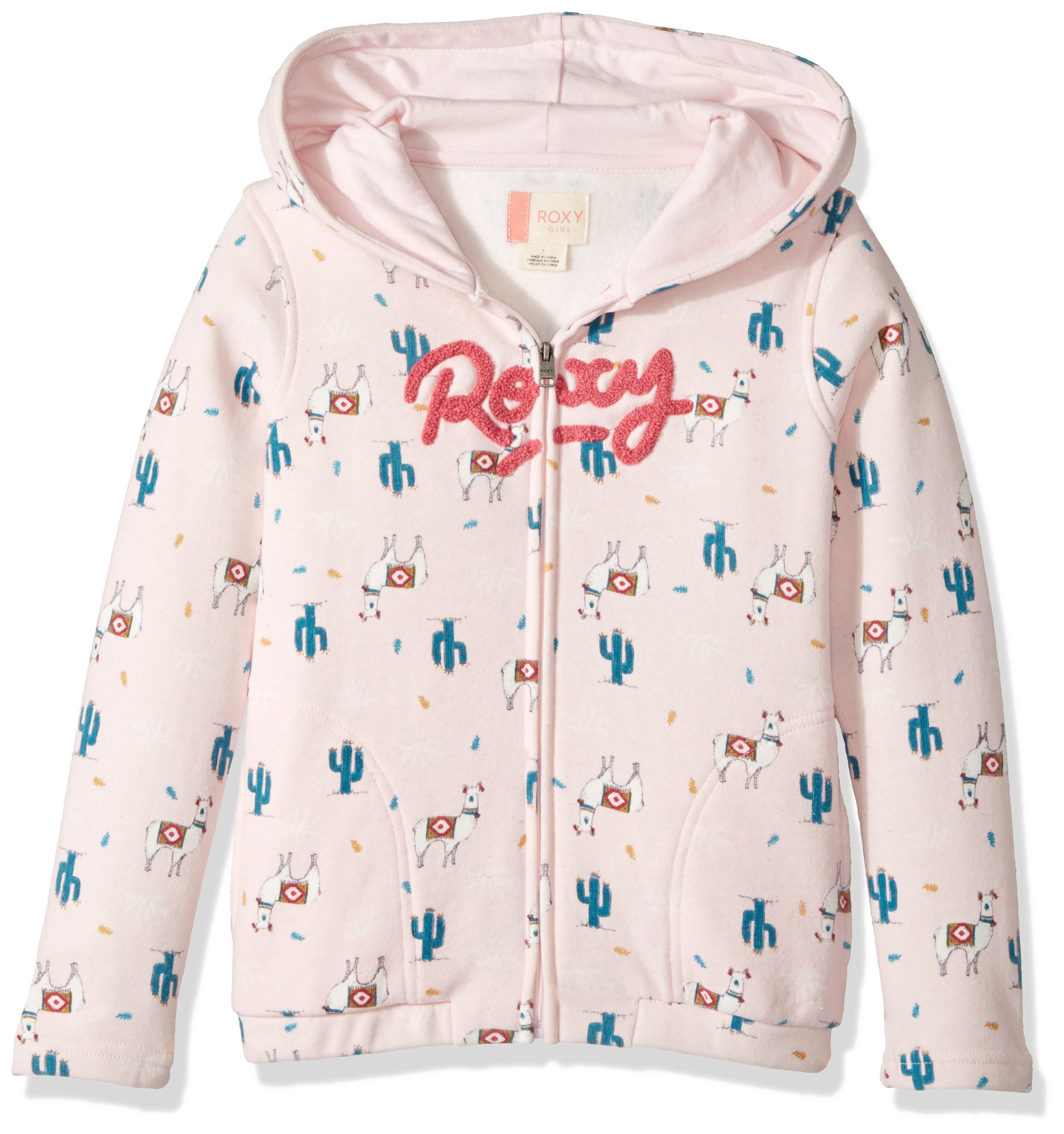 Roxy Little Girls' Let's Get Lost Hoodie, Rose Quartz Peru Travel, 5