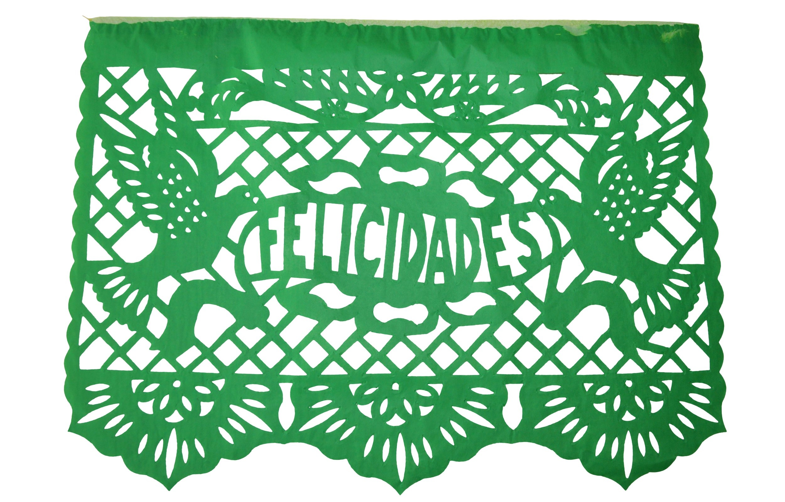 FELICIDADES Mexican Papel Picado Banner - Colorful Tissue Paper Coco Movie - 18 PANELS 33 feet long Mexican Fiesta Party Birthday Festive Celebrations Weedings- Handmade (33 feet)