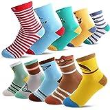 Seekay Boys 10 Pairs Colorful Fashion Cotton Crew Socks